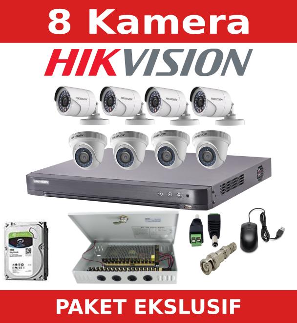 paket cctv 8 kamera hikvision - BERANDA